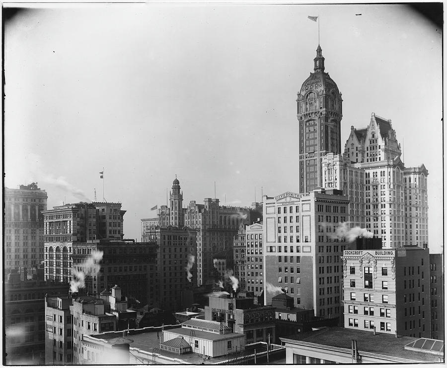 Lower Manhattan Skyline Looking Photograph by The New York Historical Society