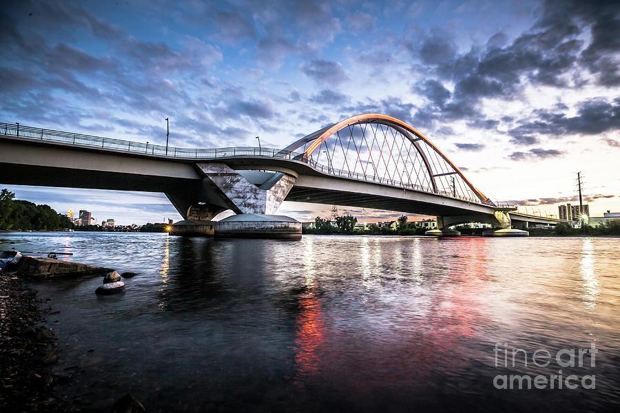 Minnesota Photograph - Lowry Ave Bridge Sunset by Habashy Photography