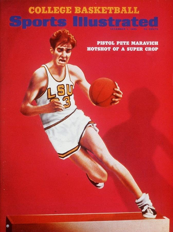Lsu Pete Maravich Sports Illustrated Cover Photograph by Sports Illustrated