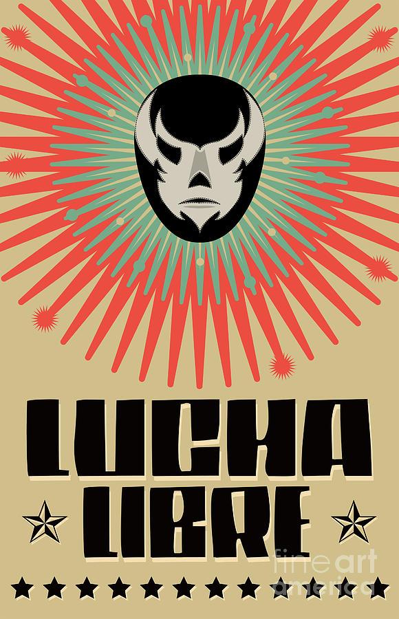 Crowd Digital Art - Lucha Libre - Wrestling  Spanish Text - by Julio Aldana