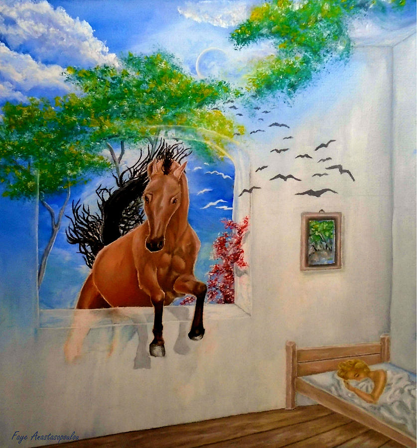 Dream Painting - Lucid Dream by Faye Anastasopoulou