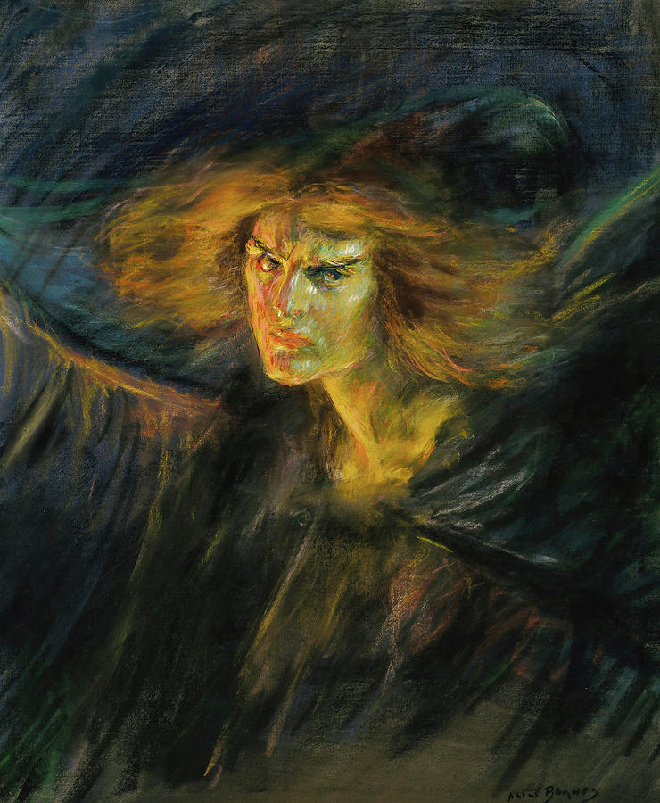 Alice Pike Barney Painting - Lucifer, 1902 by Alice Pike Barney