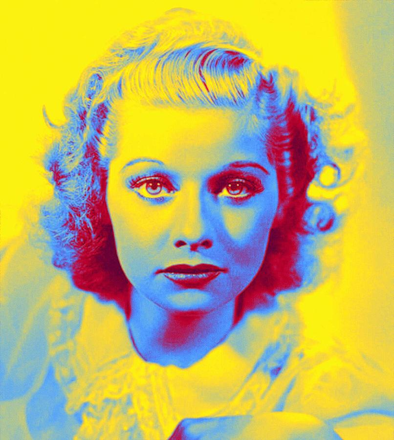 Lucille Ball 1940 Before The Trademark Red Hair. Neon Art By Ahmet Asar Painting