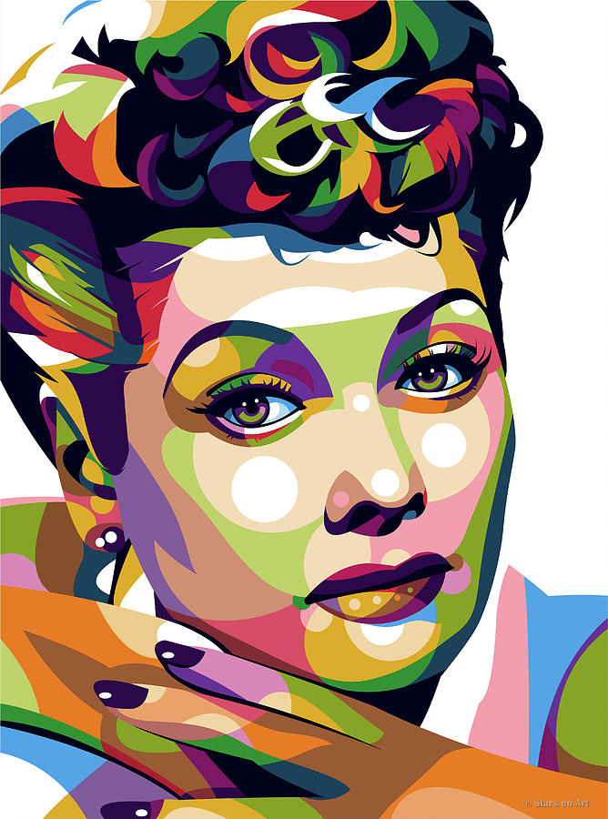 Lucille Ball by Stars on Art