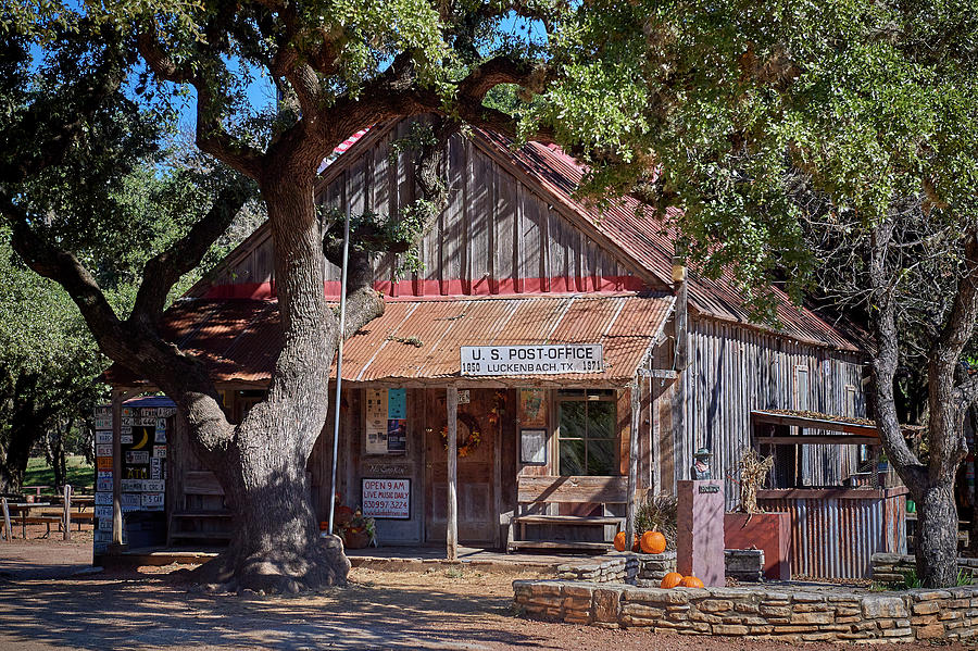 Luckenbach Post Office by Paul Freidlund