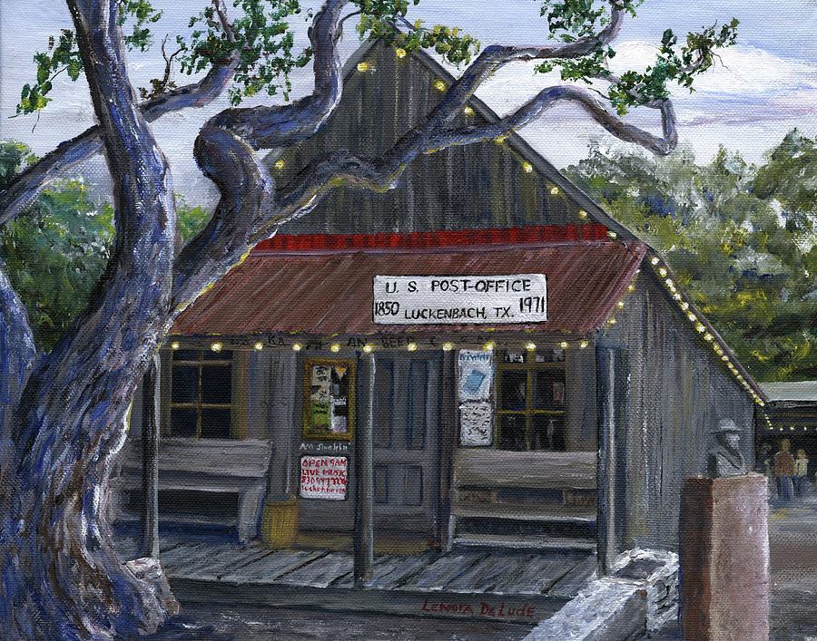 Luckenbach Texas Hill Country by Lenora  De Lude