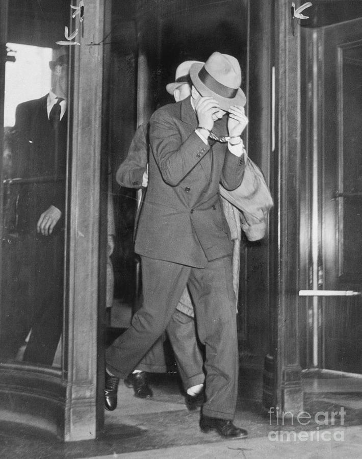 Lucky Luciano Entering Courthouse Photograph by Bettmann
