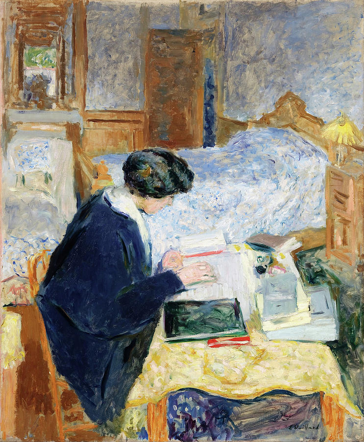 Edouard Vuillard Painting - Lucy Hessel Lisant - Digital Remastered Edition by Edouard Vuillard