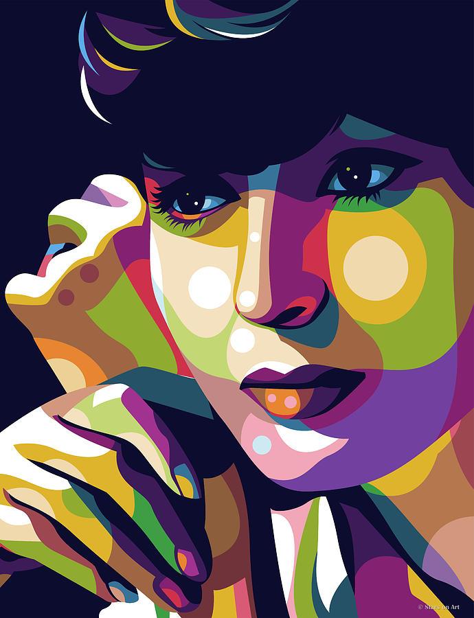 Luise Rainer Illustration Digital Art
