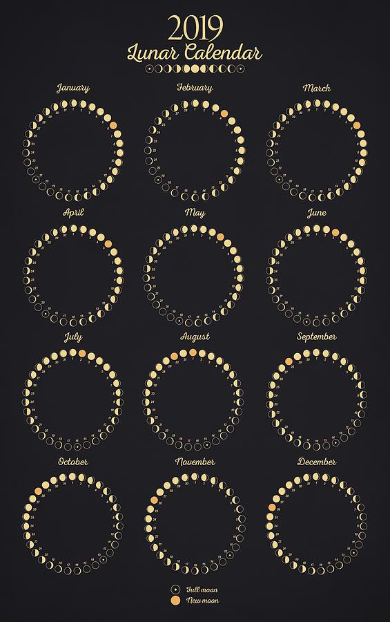 Lunar Calendar Digital Art