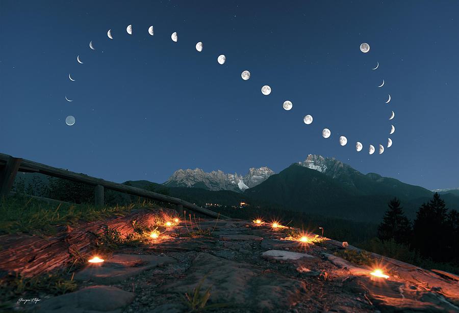 Moon Photograph - Lunar curve by Giorgia Hofer