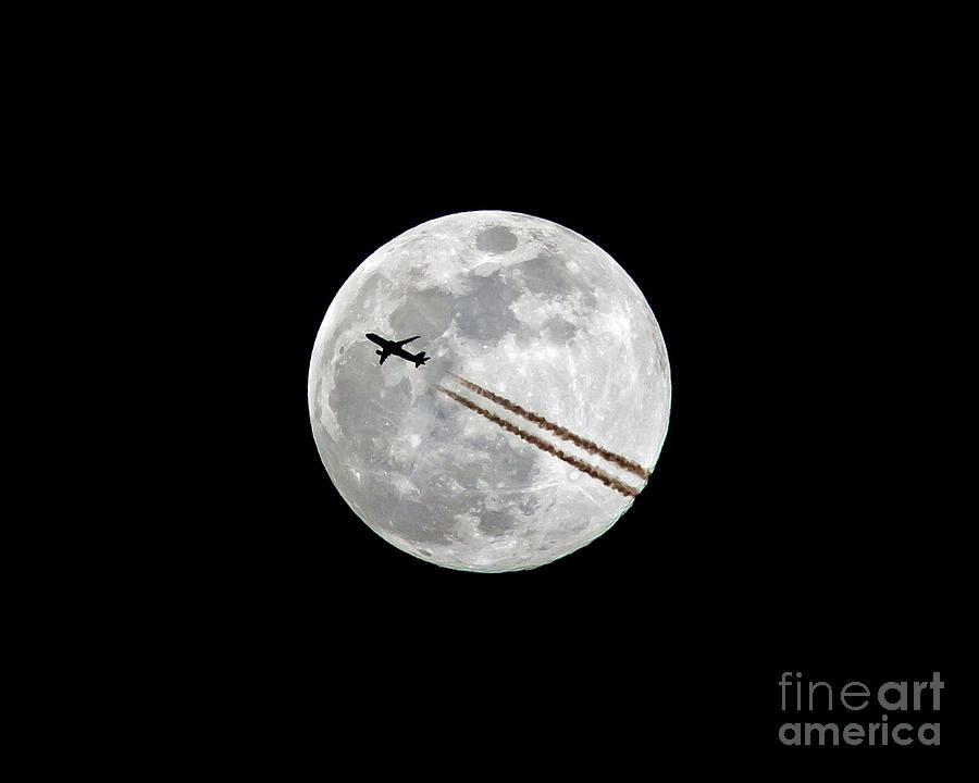 Lunar Photobomb by Kevin McCarthy