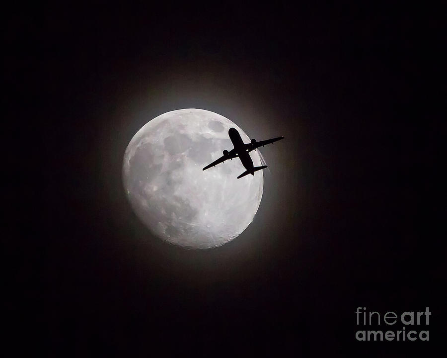 Lunar Silhouette at Night by Kevin McCarthy