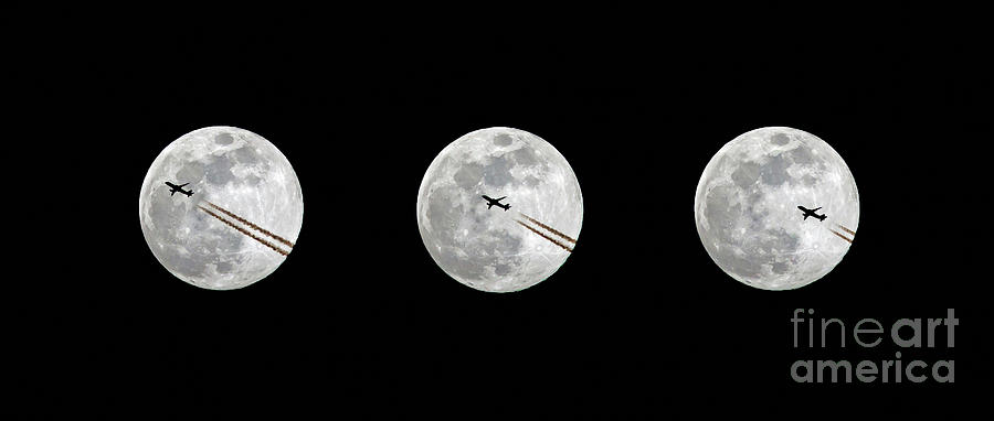 Lunar Silhouette in Sequence by Kevin McCarthy
