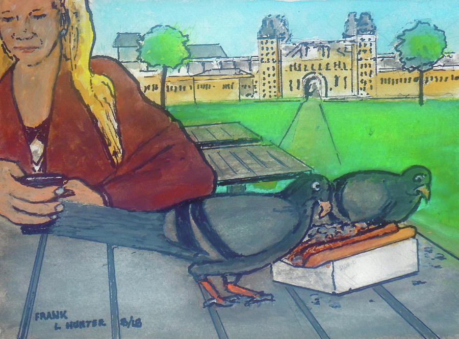 lunch for the birds in Amsterdam by Frank Hunter