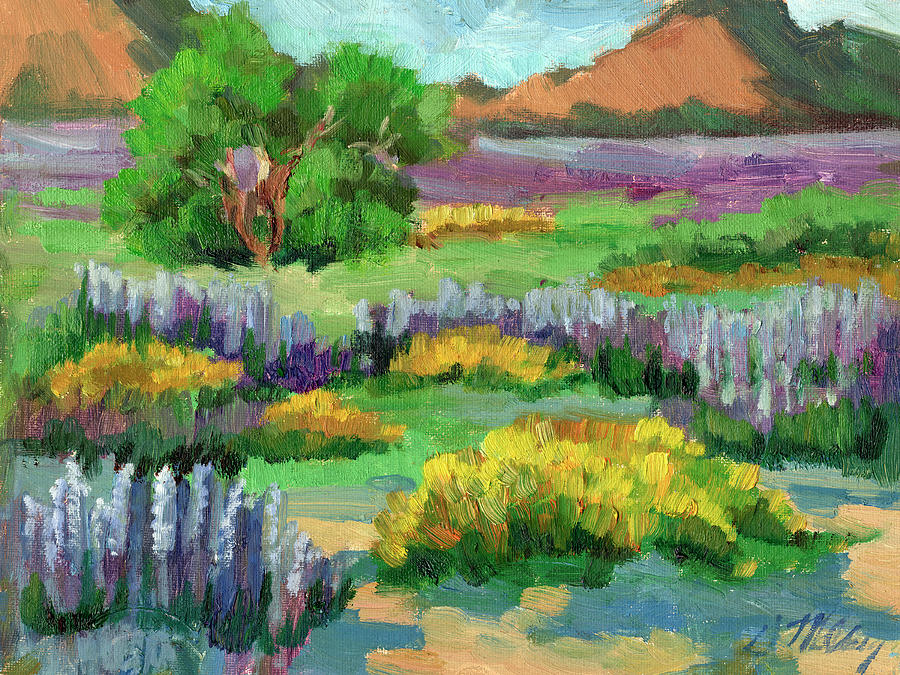 Lupine and Desert Sunflowers at Cottonwood by Diane McClary