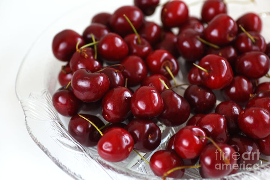 Lush Red Summer Cherries by Joy Watson