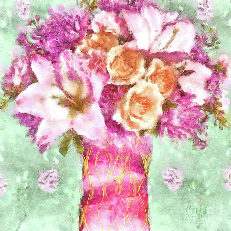 Lush Watercolor Floral Art Sunday Afternoon Painting By Tina Lavoie