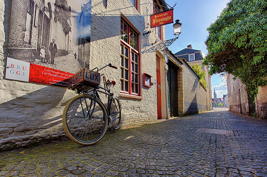 LUX Cobblestone Road Brugge Belgium by Nathan Bush
