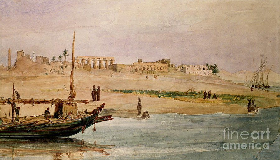 Luxor, Egypt, C1837-1872. Artist Hector Drawing by Print Collector