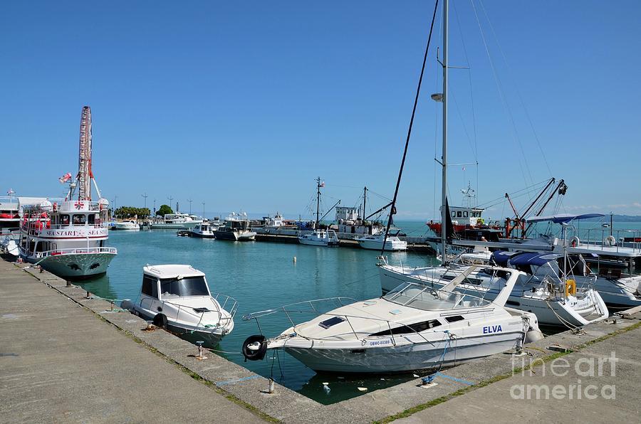 Luxury boats and vessels at Black Sea marina Batumi Georgia by Imran Ahmed