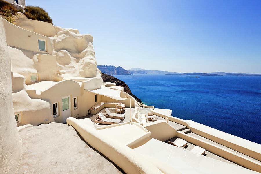 Luxury Hotel In Oia, Santorini Photograph by Mbbirdy