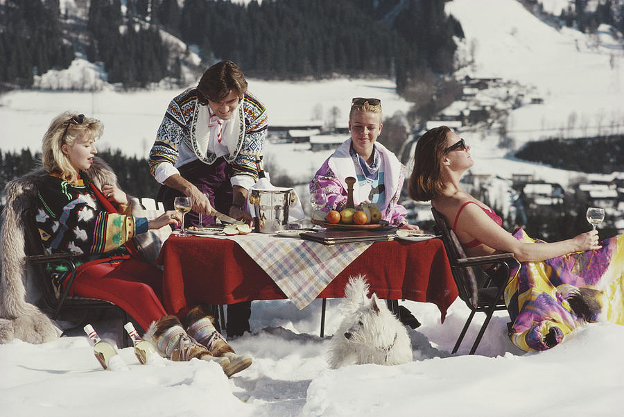 Luxury In The Snow Photograph by Slim Aarons