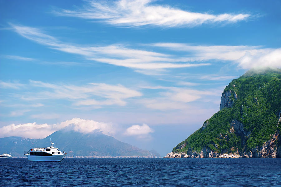 Luxury Yacht In Mediterranean Sea Photograph by Swetta