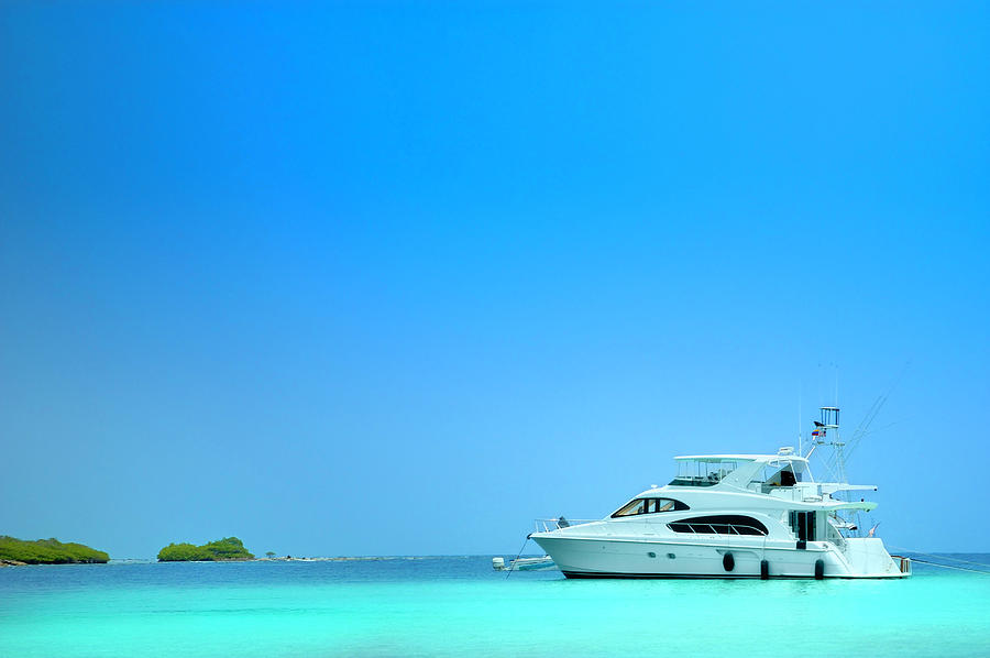 Luxury Yachts Sailing In A Tropical Photograph by Apomares