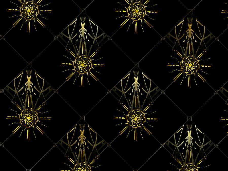Art For Interior Design Digital Art - Luz De Media Noche by Dalia Art Store