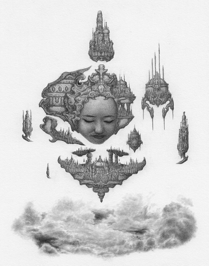 Fantasy Drawing - Lydia, The Dreaming City - Artwork by Ryan Nieves