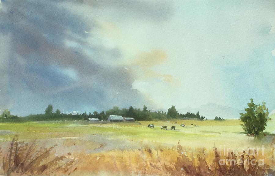 Lynden Painting - Lynden Farm, WA by Yohana Knobloch