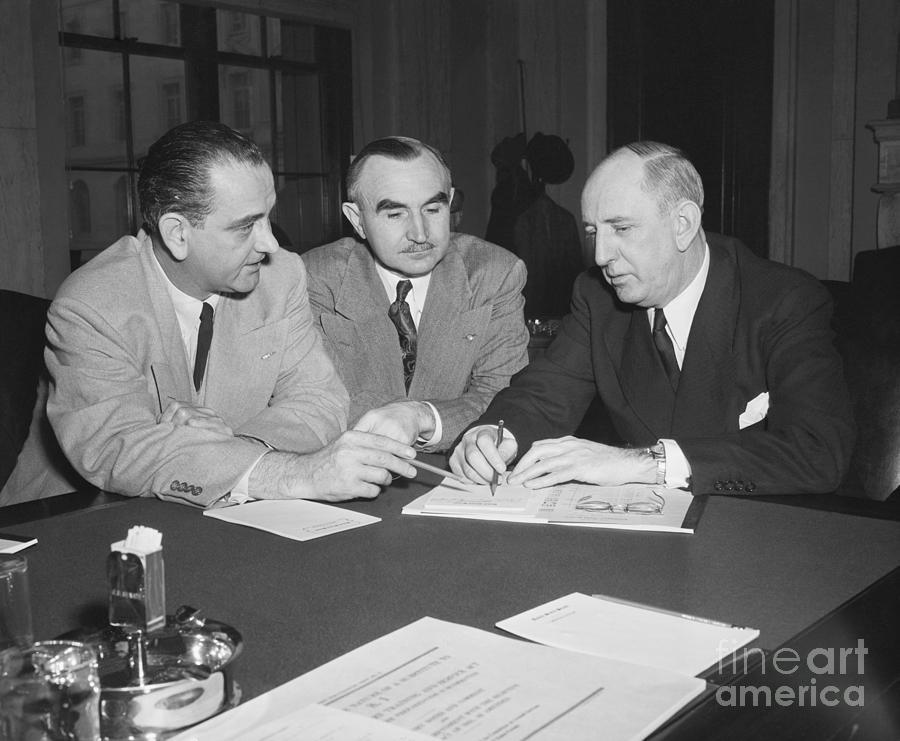 Lyndon B. Johnson, Wayne Morse Photograph by Bettmann