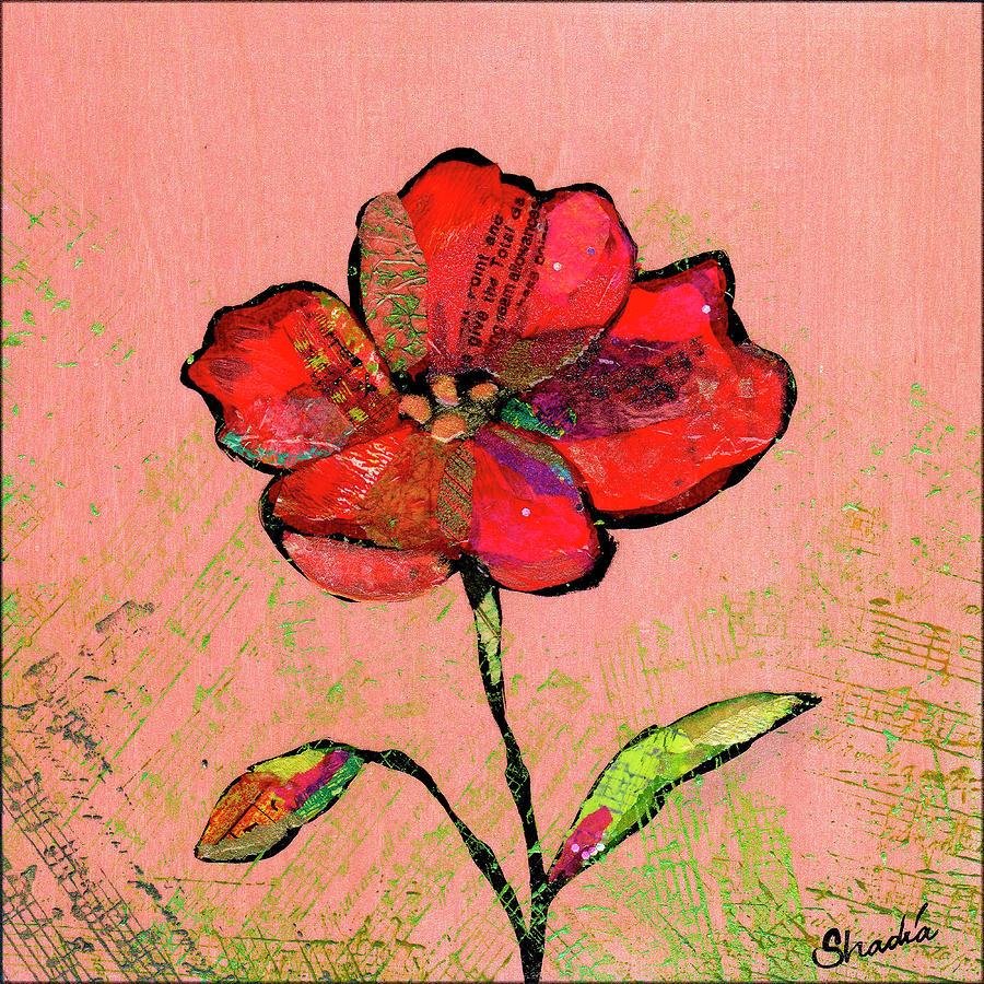 Lyrical Poppy II Painting
