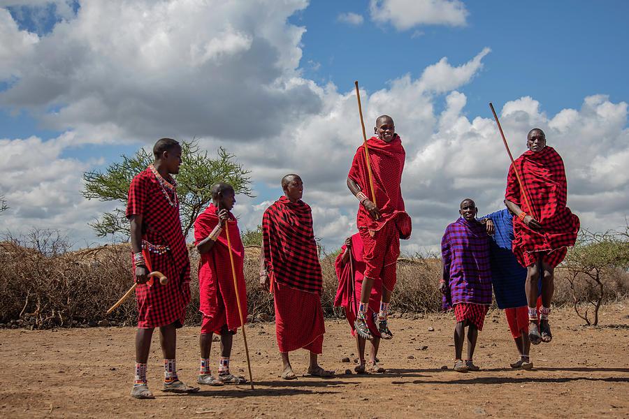 Maasai Photograph - Maasai Adumu by Thomas Kallmeyer