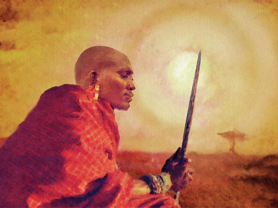 Maasai Warrior Digital Art - Maasai by Regina Wyatt