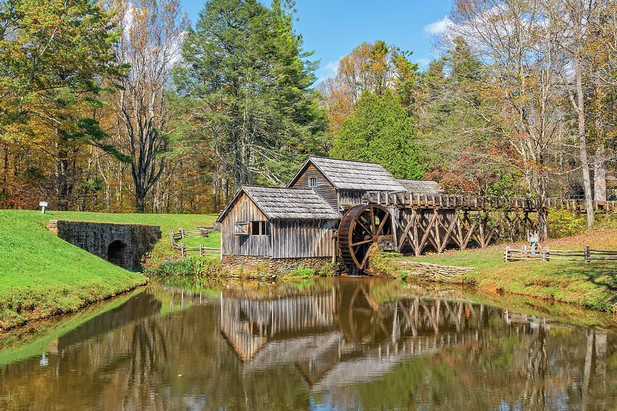 Mabry Mill In Virginia by Jim Vallee