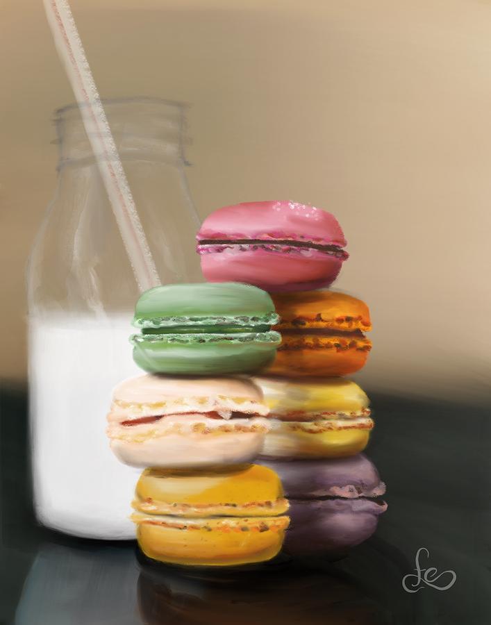 Macaroons Pastel - Macaroons  by Fe Jones