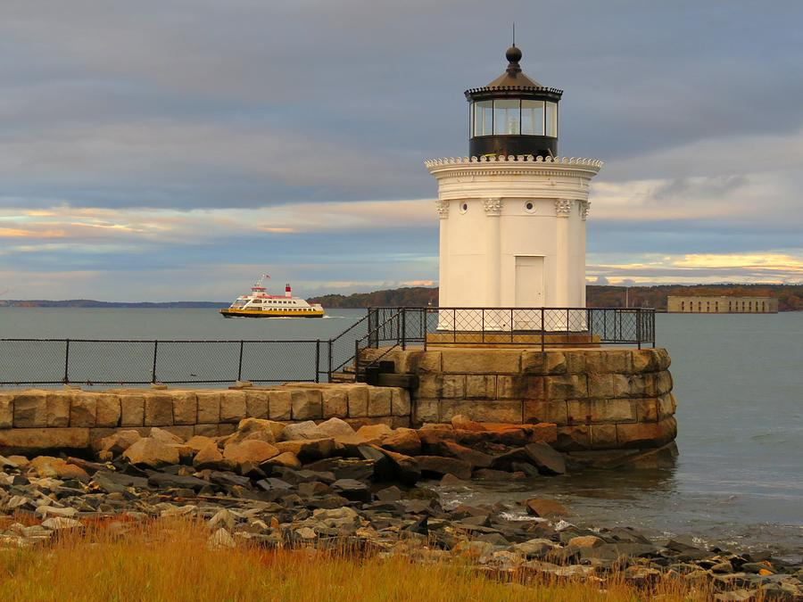 Machigonne passes Bug Light by Keith Stokes
