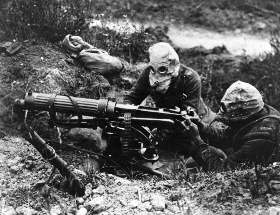 Machine Gunners Photograph by General Photographic Agency