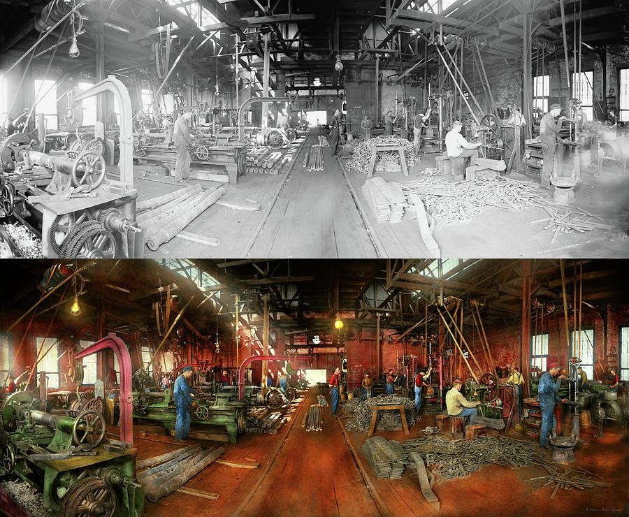 Machinist - Pumping out parts 1905 - Side by Side by Mike Savad