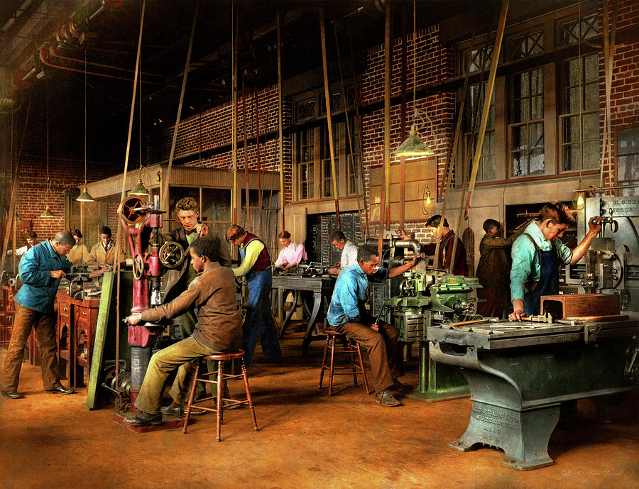 Machinist - Training - Machinist school 1899 by Mike Savad