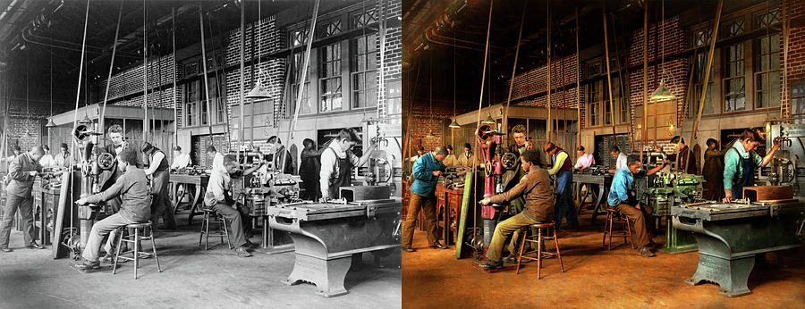 Machinist - Training - Machinist school 1899 - Side by Side by Mike Savad