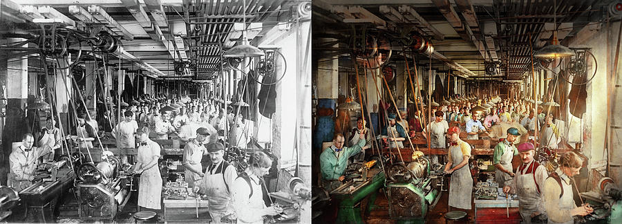 Machinist - War - Making Munitions 1916 - Side by Side by Mike Savad