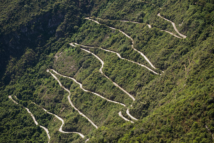 Machu Picchu Access Road, Elevated View Photograph by David Madison