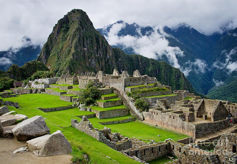 Civilization Photograph - Machu Picchu In Peru Unesco World by Byelikova Oksana