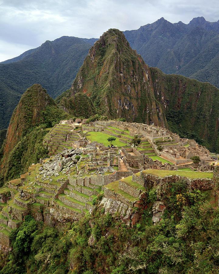 Machu Picchu Portrait Photograph by Rob Kroenert