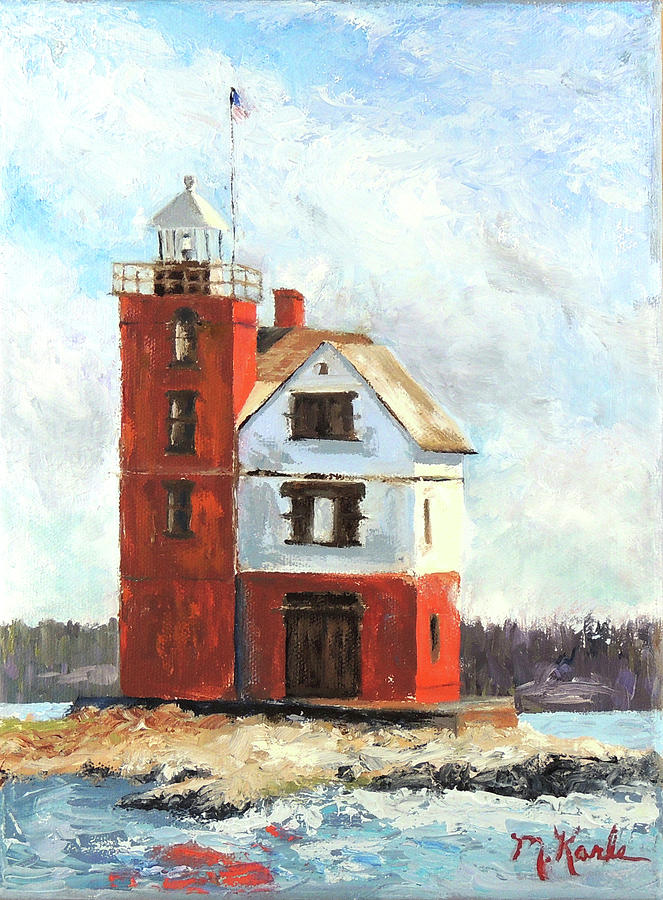 Mackinac Island Lighthouse by Marsha Karle