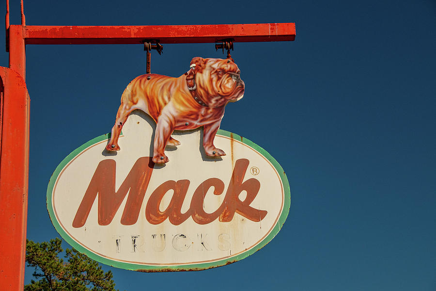 Mack Bulldog Vintage Sign by Kristia Adams