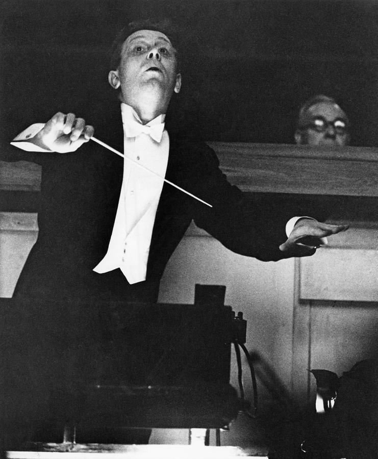Mackerras Conducts Janacek Photograph by Erich Auerbach